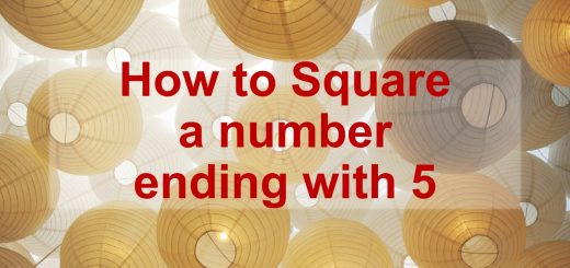 How to square a number ending with 5 within seconds