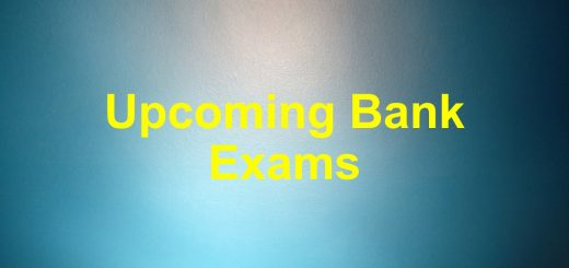 Upcoming Bank exams