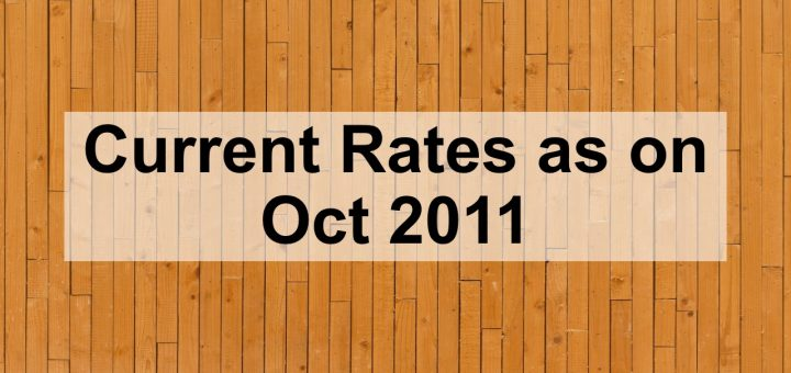 Current rates as of October 24th 2011