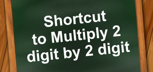 Shortcut to Multiply 2 digit by 2 digit