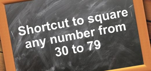 Shortcut to square any number from (30-79)