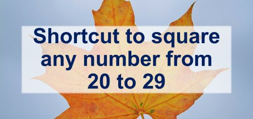 Shortcut to square any number from(20-29)