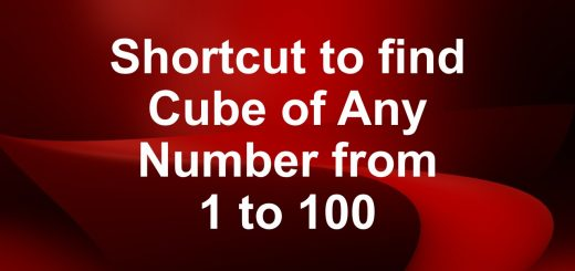 Shortcut to find cube of any number from 1 to 100