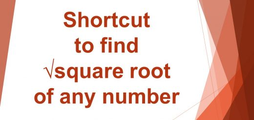 Shortcut to find squareroot of any number