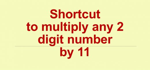 Shortcut to multiply any 2 digit number by 11