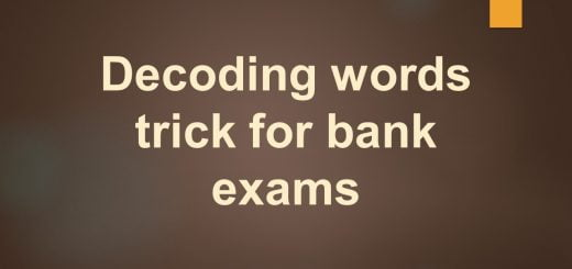 Decoding words trick for bank exams