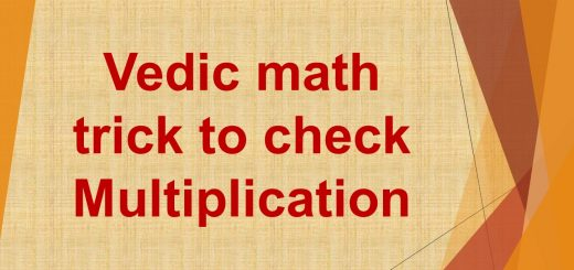 Vedic math trick to check multiplication
