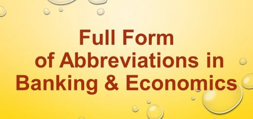 Full form of abbreviations related to banking and economics