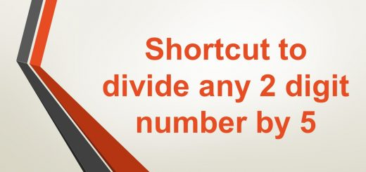 Shortcut to divide any 2 digit number by 5