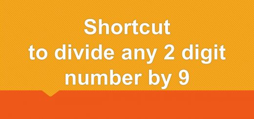 Shortcut to divide any 2 digit number by 9