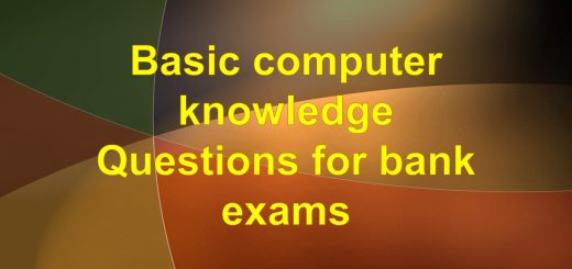 Basic computer knowledge questions for bank exams
