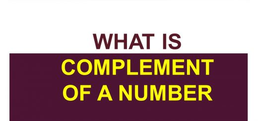 What is complement of a number