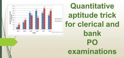 Quantitative aptitude trick for clerical and bank po examinations