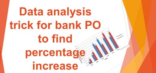Data analysis trick for bank PO to find percentage increase