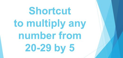 Shortcut to multiply any number from 20-29 by 5
