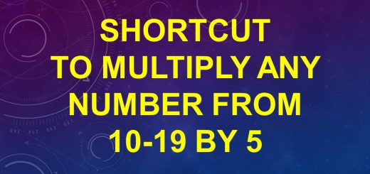 Shortcut to multiply any number from 10-19 by 5