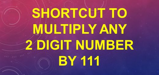 Shortcut to multiply any 2 digit number by 111