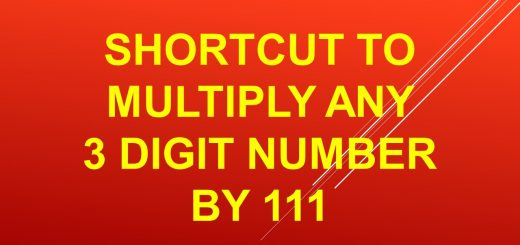 Shortcut to multiply any 3 digit number by 111