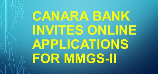 Canara Bank invites online applications for MMGS-II