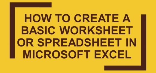 How to create a basic worksheet or spreadsheet in Microsoft Excel 2007