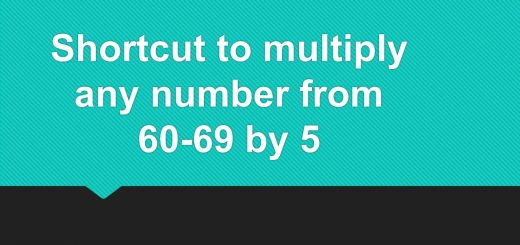 Shortcut to multiply any number from 60-69 by 5