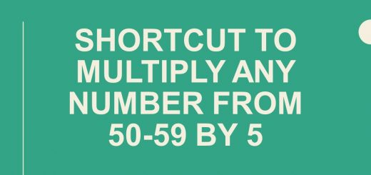 Shortcut to multiply any number from 50-59 by 5