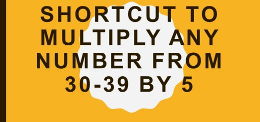 Shortcut to multiply any number from 30-39 by 5