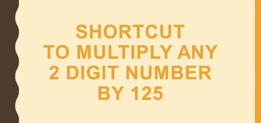 Shortcut to multiply any 2 digit number by 125