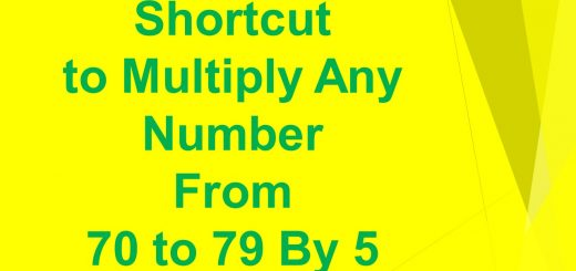 Shortcut to multiply any number from 70-79 by 5