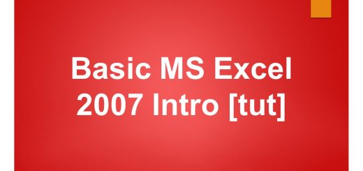 Basic MS Excel 2007 tutorial Intro