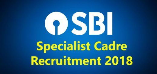 SBI Specialist Cadre Officers 2018