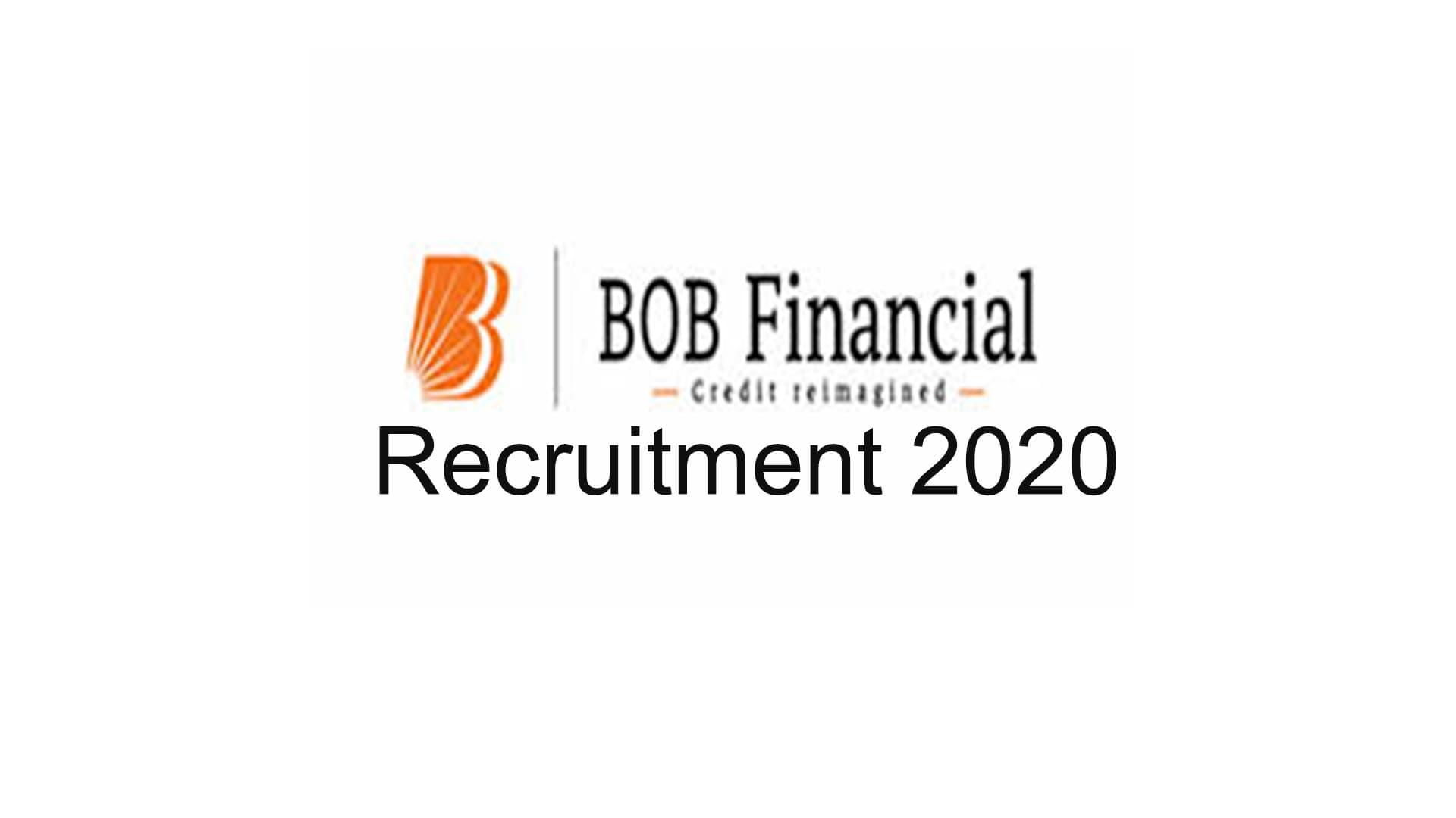 BOB Financial Recruitment 2020