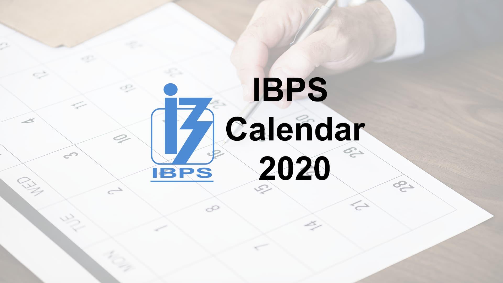 IBPS Calendar 2020