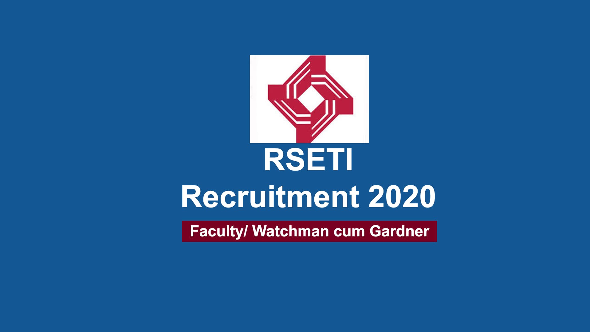 RSETI Recruitment 2020