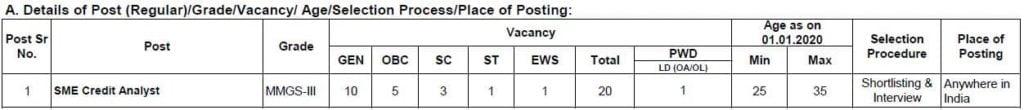SBI SO Vacancy