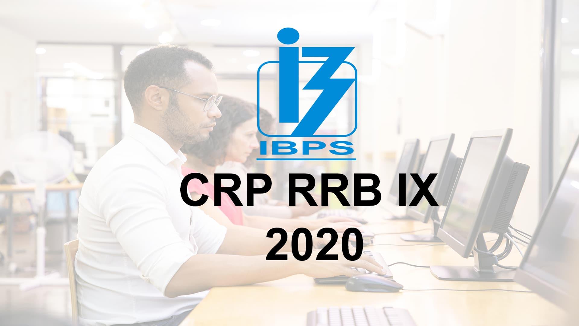 IBPS CRP RRB IX 2020