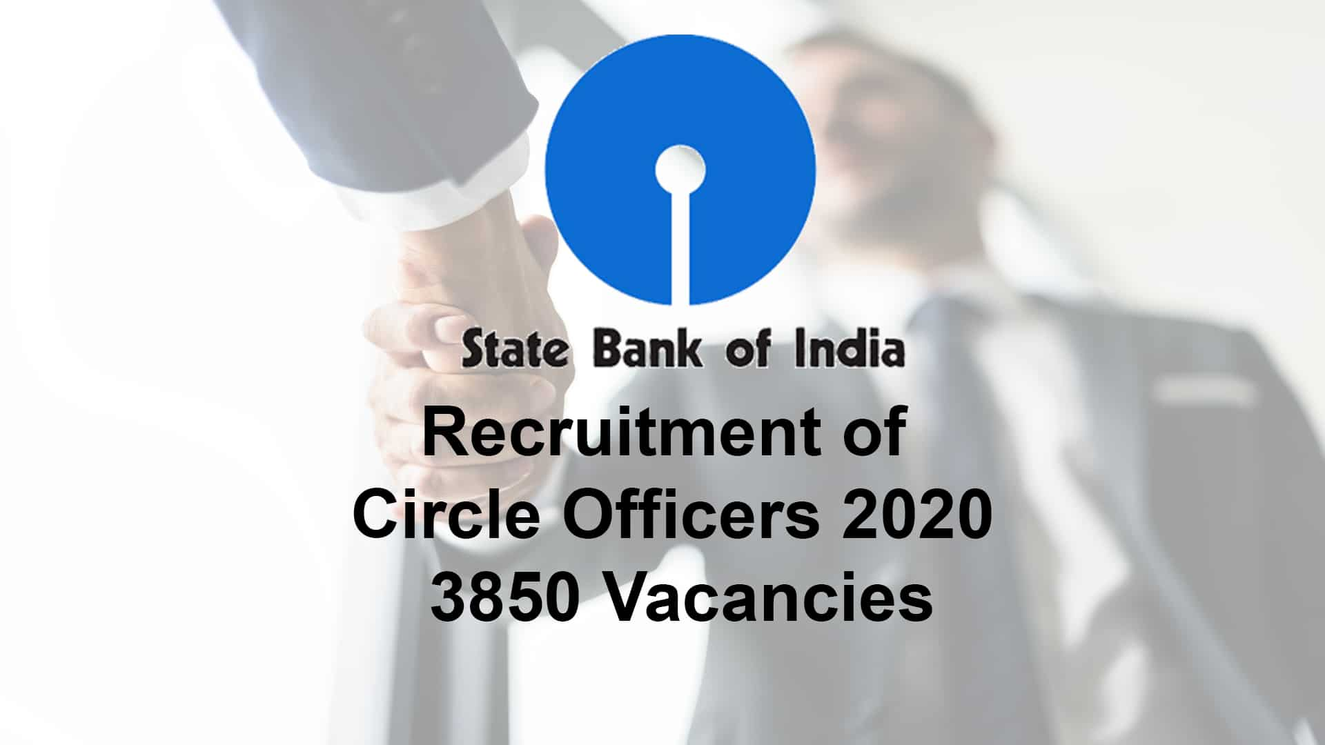 SBI Recruitment of Circle Officers