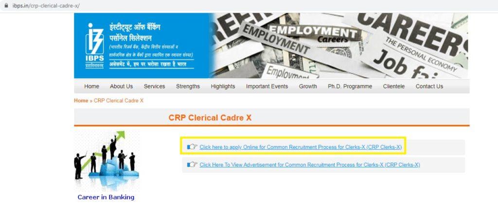 IBPS Clerk X Apply