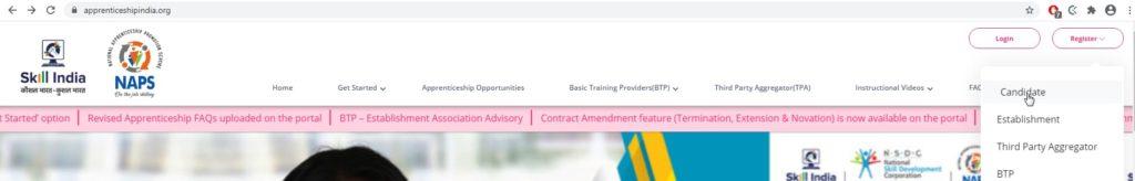 Registeration on Apprenticeship Portal
